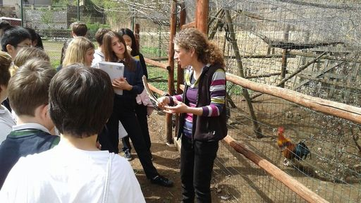 Middle school students visit a local farm to learn how to be responsible consumers