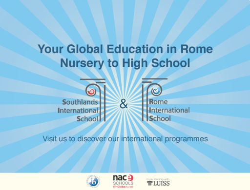 Rome leads in global education: Rome International School and Southlands create the city's most important educational group