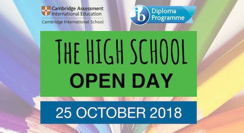Open Days: Primary Years & High School on 24 and 25 October 2018