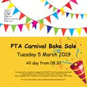 PTA news and up-coming bake sale on 5 March 2019