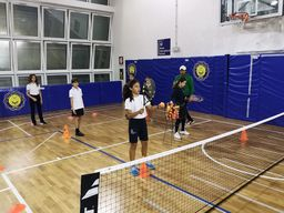 Students enjoy tennis lessons with Accademia Tennis Vigna Clara
