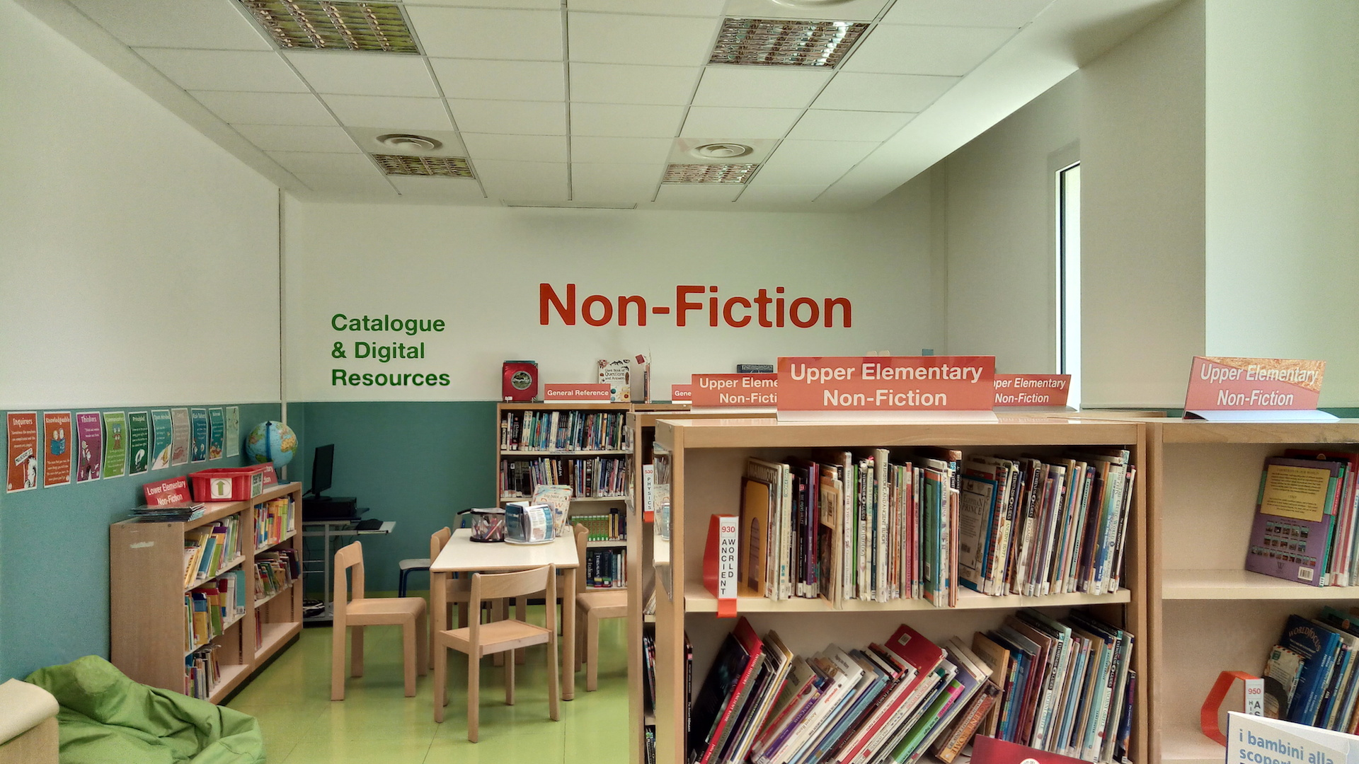 Elementary Library Fiction section