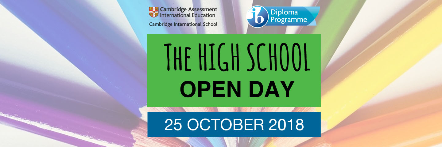 High School Open Day banner