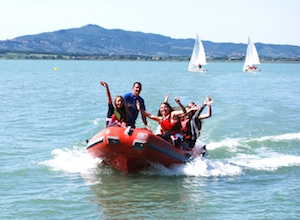 Students enjoying a residential trip in Italy